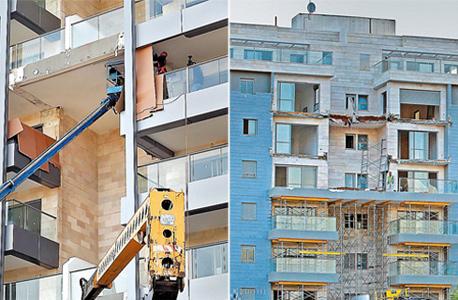 קריסת מרפסות ב פרויקט של גינדי השקעות חדרה, צילום: נמרוד גליקמן