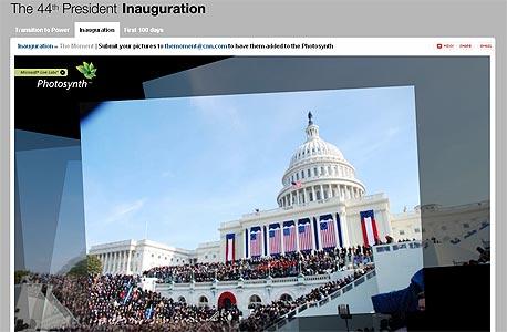 צילום מטקס השבעתו של ברק אובמה באתר CNN, צילום מסך: cnn.com