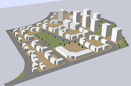 הדמיית שכונת מגורים בשטח של צריפין
