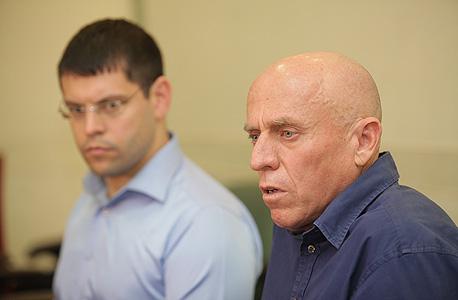 """יוסי ורשבסקי מנכ""""ל ערוץ 10 ומתן חודורוב, צילום: אוראל כהן"""