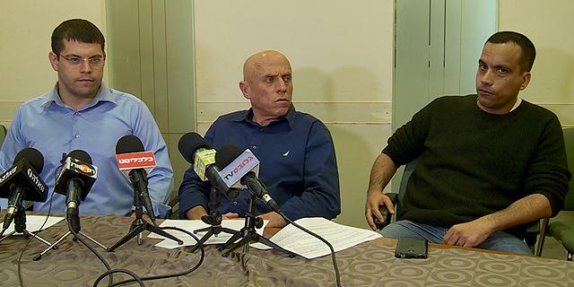 """גולן יוכפז, יוסי ורשבסקי מנכ""""ל ערוץ 10 ויו""""ר ועד העובדים של הערוץ מתן חודורוב (ארכיון), צילום: חגי דקל"""