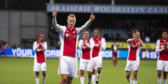 שחקני אייאקס. בהולנד הגיל הממוצע של השחקנים בסגל הוא הנמוך באירופה (24.2), ומדי שנה מצטרפים 1.78 שחקנים מהאקדמיה לסגל קבוצתם , צילום: אי פי איי