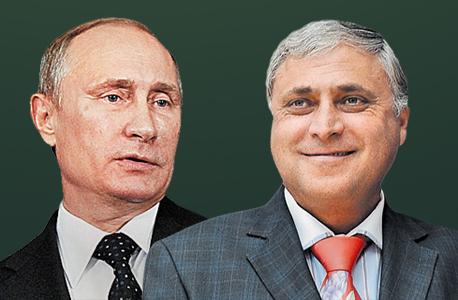 מוטי זיסר ולדימיר פוטין, צילום: איי אף פי