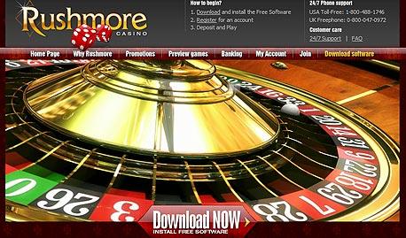 מי שרוצה להגיע, יצליח. אתר הימורים, צילום מסך: rushmorecasino.com