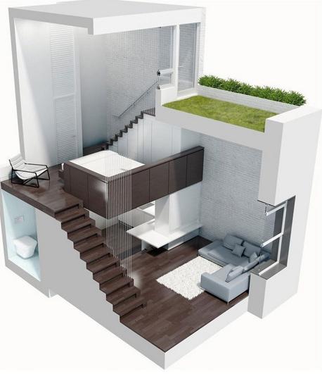 הדירה בכללותה, צילום: design-milk.com