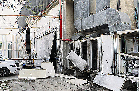 מפעל בשדרות שנפגע מקסאם