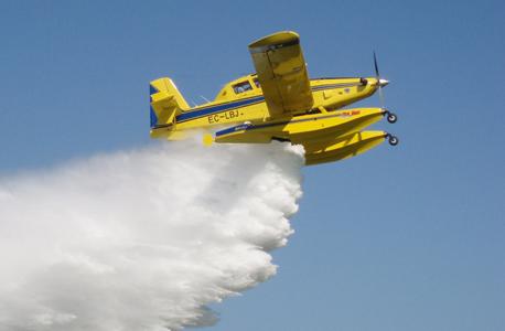 אלביט מערכות מטוס כיבוי מטוסי כיבוי מתוצרת חברת Air Tractor , צילום: קרדיט אלביט מערכות