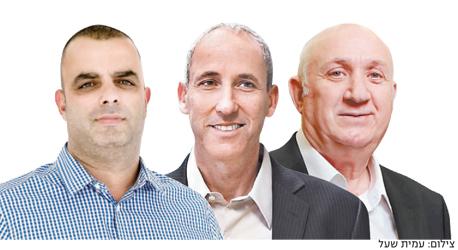מימין איציק אברכהן, מוטי קרן ואייל רביד, צילום: עמית שעל