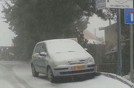 שלג בצפת, הבוקר, צילום: אביהו שפירא