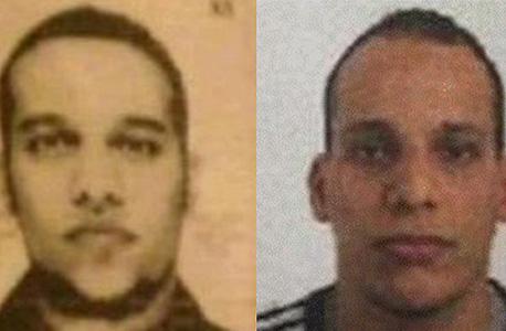 האחים סעיד (משמאל) ושריף קואשי שחשודים בטבח בעיתון הצרפתי
