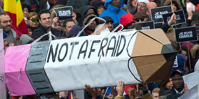 פריז, עצרת המונים נגד הטרור, צילום: איי פי
