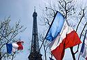 מגדל אייפל על רקע דגל צרפת, צילום: french.lovetoknow.com