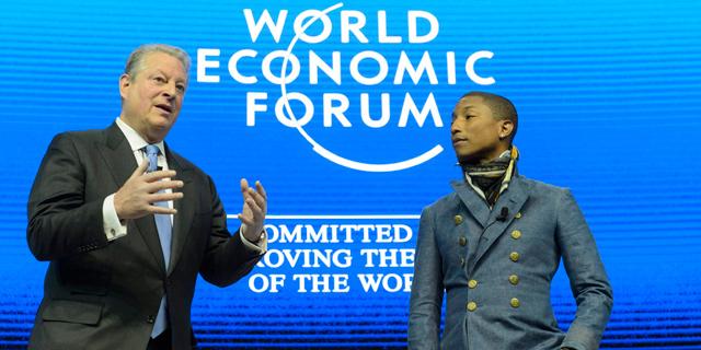פארל וויליאמס (מימין) ואל גור. הופעות בשבע יבשות, כולל אנטארקטיקה, צילום: אי פי איי