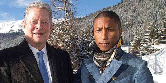 דאבוס: פארל וויליאמס ואל גור יפיקו את קמפיין האקלים הגדול בעולם