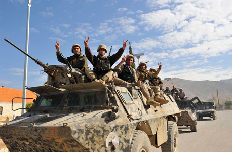 חיילים לבנונים בגבול סוריה