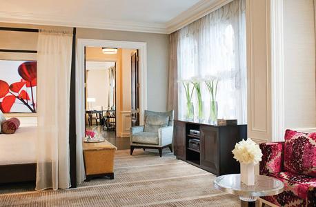 הסוויטה הנשיאותית במלון בוורלי ווילשייר, לילה ב-100 אלף דולר, צילום: fourseasons.com