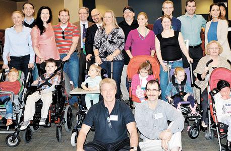 מפגש המשפחות בכנס מחקרי באמצע 2014. כמה מההורים חשבו שילדם הוא היחיד בעולם שלקה במחלה הנדירה