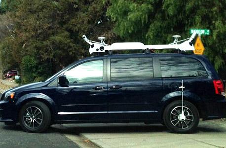 רכב אפל קליפורניה מסתורי סטריט ויו סטריט-ויו, צילום: claycord.com