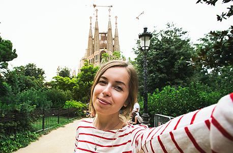 סלפי בסגרדה פמיליה, ברצלונה, צילום: שאטרסטוק