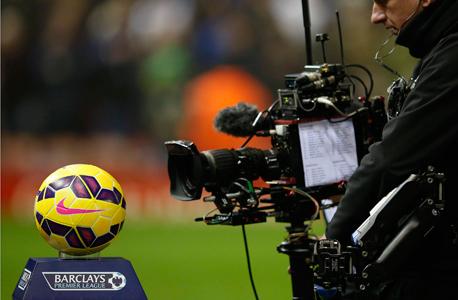 A camera at a Premier League match. Photo: Reuters