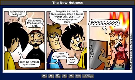 מתוך פני ארקייד, קומיקס הרשת הפופולרי ביותר. בקרוב בלי פרסומות?, צילום מסך: penny-arcade.com