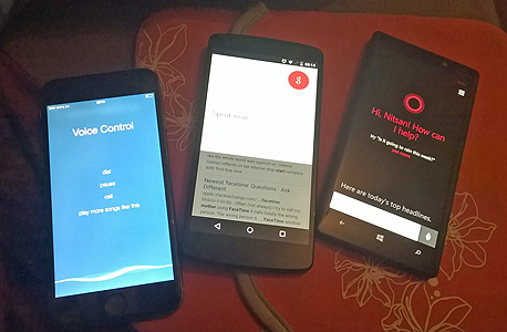 מימין: קורטנה, גוגל NOW וסירי