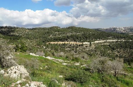 """הרי ירושלים. העיר אמורה לקום 2 ק""""מ דרומית-מערבית לירושלים"""