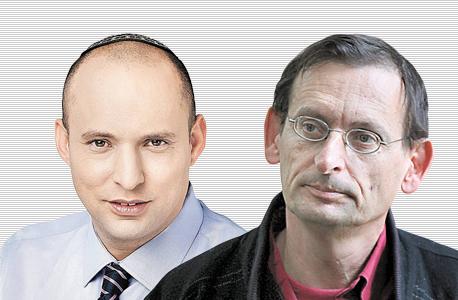 """מימין דב חנין ו נפתלי בנט, צילום: עמית שעל, יח""""צ"""