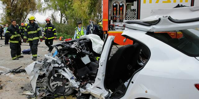 תאונת דרכים (ארכיון), צילום: גדי קבלו