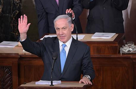 בנימין נתניהו הקונגרס וושינגטון איראן, צילום: איי אף פי