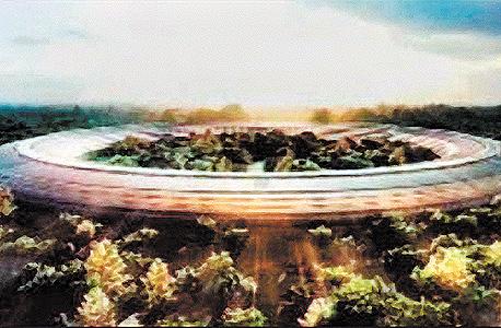 הקומפלקס ההולך ונבנה של אפל בעמק הסיליקון