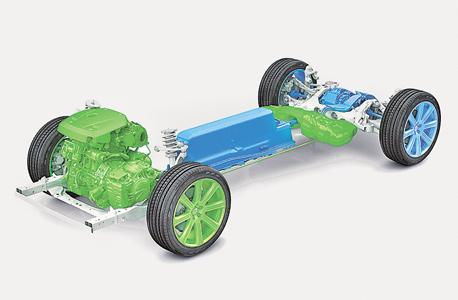 הפלטפורמה המודולרית שמאפשרת לשתול סוללה במערכת הנעה היברידית