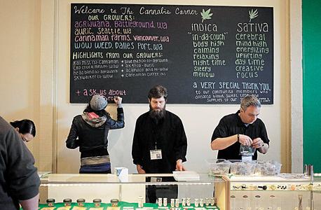 """חנות לרכישת מריחואנה בקולורדו, ארה""""ב, צילום: רויטרס"""