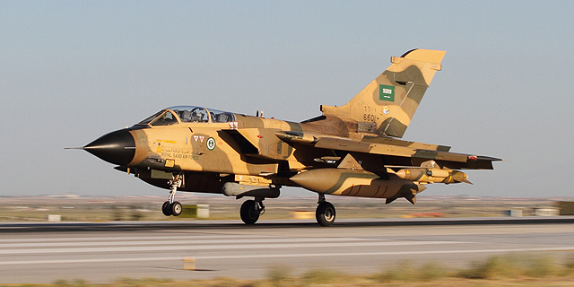 מטוס קרב טורנדו של חיל האוויר הסעודי, צילום: worldtribune.com