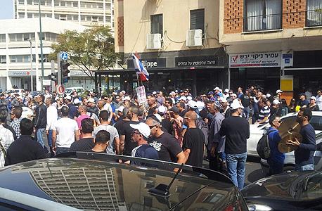 עובדי כיל מפגינים ב תל אביב,  צילום: באדיבות דוברות ההסתדרות