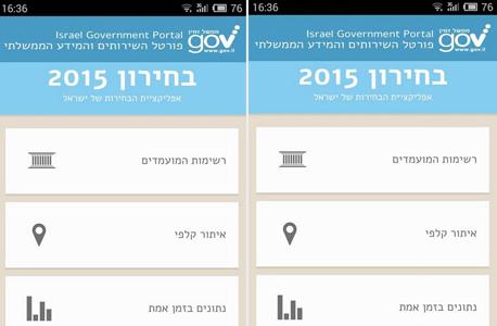 אפליקציית בחירון 2015