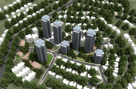 הדמיית הפרויקט בשכונת מורשה ברמת השרון