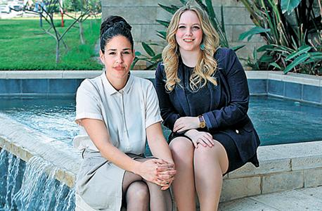 """גלית עיני (משמאל) והסטודנטית אור ורדי. """"המעורבות בעסק החלה בגיל אפס"""""""
