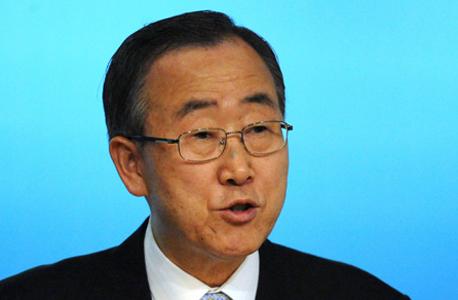 """מזכ""""ל האו""""ם באן קי מון. יזם את ההחלטה, צילום: בלומברג"""