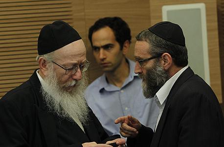 """מימין: משה גפני ויעקב ליצמן. המנצחים האמיתיים של המו""""מ הקואליציוני, צילום: עטא עוויסאת"""