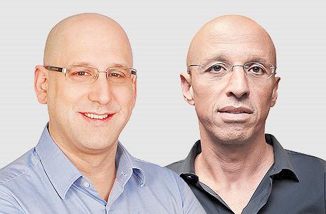 """מימין אילן צחי מנכ""""ל הוט ו ניר שטרן מנכ""""ל סלקום, צילום: שאול גולן, סיון פרג'"""