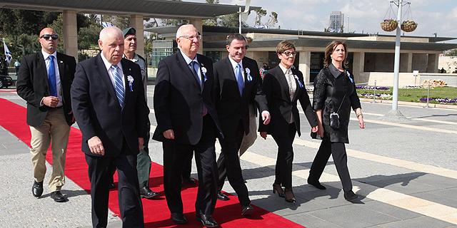 הנשיא ראובן ריבלין מגיע לטקס ההשבעה של הכנסת ה-20, צילום: דוברות הכנסת