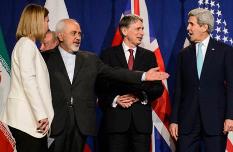 חתימה על הסכם הגרעין בין איראן לבין המעצמות בשוויץ