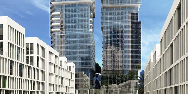 כלל ביטוח רוכשת מטדי שגיא 4 קומות במגדלי הארבעה ב-129 מיליון שקל