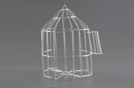עבודה של עדן חברוני בעקבות סיפור על ניצולה שהתחבאה לצד ציפור בכלוב