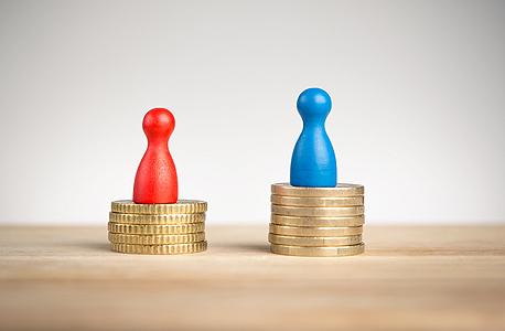 """לפי הלמ""""ס ב-2018 גברים השתכרו ב-2018 בממוצע בחודש 31% יותר מנשים"""