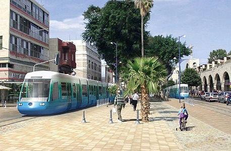 הדמיה רכבת ב שדרות ירושלים ב יפו תל אביב