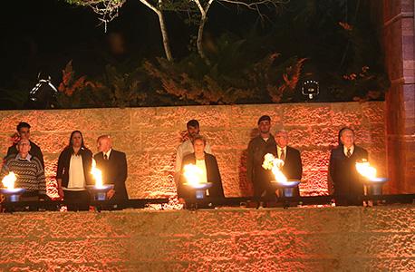 טקס ערב יום השואה בהר הרצל, אמש