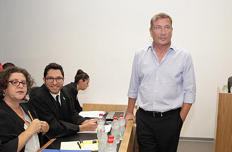 נוחי דנקנר בבית המשפט, היום, צילום: אוראל כהן