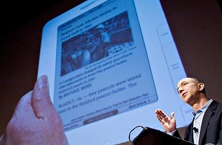 """מנכ""""ל אמזון ג'ף בזוס מציג את הקינדל 2.0. נלחם בגוגל בבית המשפט"""